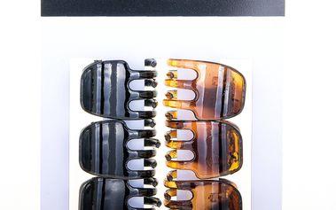 Fashion Icon Skřipec do vlasů Fashion Jewelry hnědé 6 ks