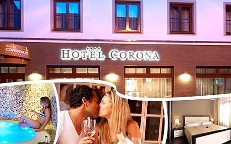 Za romantikou a odpočinkem do luxusního hotelu Corona**** Kaplice na 2, 3 nebo 4 dny. Snídaně, vstup do špičkového wellness, fitness, masáž zad a šíje a také varianty s polopenzí, výtečným dezertem a kávou a dalšími bonusy.