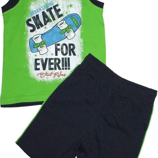 Blue Seven Chlapecký set trička a šortek Heavy Skate - modrý
