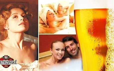 Wellness v lázních Poděbrady s pivní koupelí a procedurami. Relaxace až do října 2016 s koupelí v postřižinském kvasnicovém ležáku i jeho neomezenou konzumací nebo s čokoládovým či vinným překvapením a dalšími procedurami.