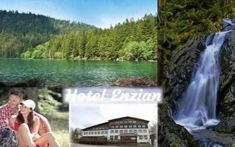 Šumava v létě - 4 dny v hotelu Enzian s chutnou snídaní v Železné Rudě