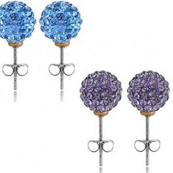 Elegantní náušnice SHAMBA ve tvaru kuličky s kamínky ve 4 barevných provedeních, které Vám perfektně sednou!