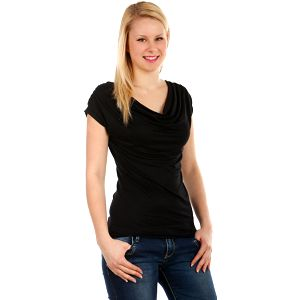 Krásné elegantní tričko černá