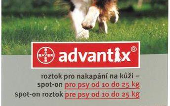 ADVANTIX Spot-on pro psy 10-25 kg 1 x 2.5 ml