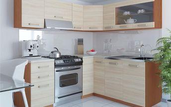 Kuchyňská linka TORINO LIDIA L 360 cm - dub jasný