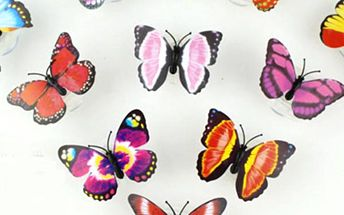Motýlek - v noci svítí - skladovka