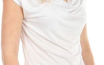 Krásné elegantní tričko bílá