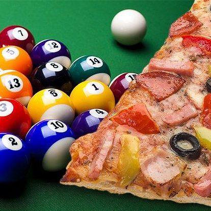 Dvě hodiny kulečníku a dvě pizzy Gladiátor v Billiard clubu BIO Plzeň
