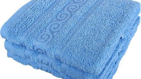 Froté ručník se vzorem Pharao světle modrá