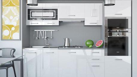 Kuchyňská linka INFINITY PAULA 240 cm - bílá barva