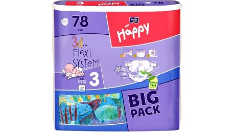 Bella Baby Happy Midi Big Pack 78 ks + dárek Odličovací vlhčené ubrousky Bella 20 ks (zdarma)