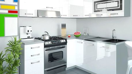Kuchyňská linka INFINITY LIDIA 360 cm - bílá barva