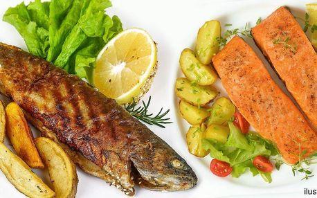 Grilovaná rybí hostina se vším všudy v Glorii