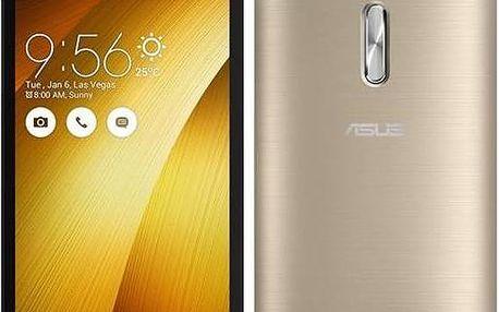 Asus ZenFone 2 Laser 16 GB ZE500KL (ZE500KL-6G112WW) zlatý + dárek SIM s kreditem T-mobile 200Kč Twist Online Internet (zdarma)+ Voucher na skin Skinzone pro Mobil CZ v hodnotě 399 Kč jako dárek + Doprava zdarma