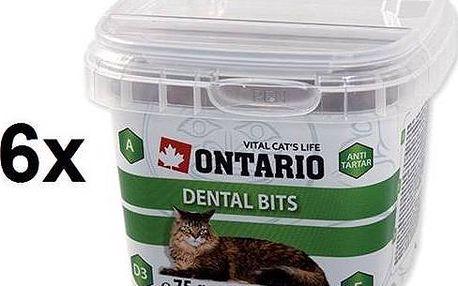 Pochoutka Ontario Snack Dental Bits 6 x 75g