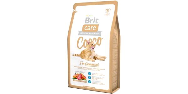 Brit Care Cat Cocco I´m Gourmed 2 kg + dárek Dóza Brit Care Cat - assort