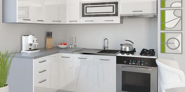 Kuchyňská linka INFINITY LIDIA P 360 cm - bílá barva
