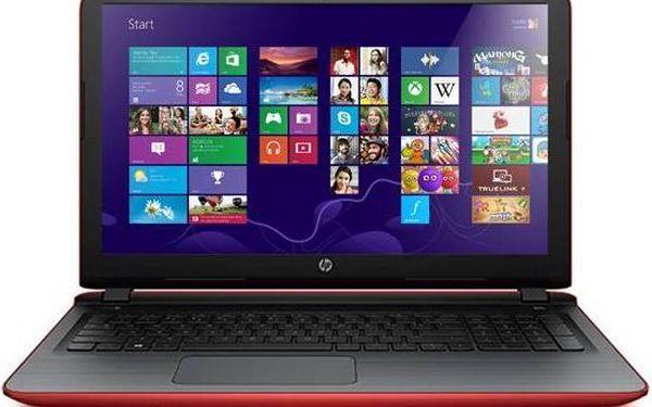 """HP Pavilion 15-ab081nc (N3V74EA#BCM) červený + dárek Monitorovací software Pinya Guard - licence na 6 měsíců (zdarma)+ Voucher na skin Skinzone pro Notebook a tablet CZ v hodnotě 399 Kč jako dárek+ dárek Brašna na notebook ATTACK Universal 15,6"""" - černá ("""