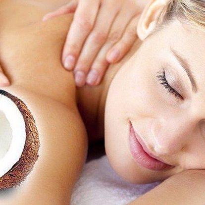 Voňavá kokosová masáž s peelingem