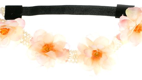 Fashion Icon Čelenka do vlasů pružná s květy