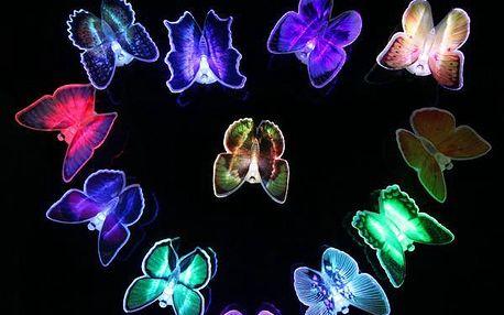 LED motýlek svítící v 7 barevných odstínech