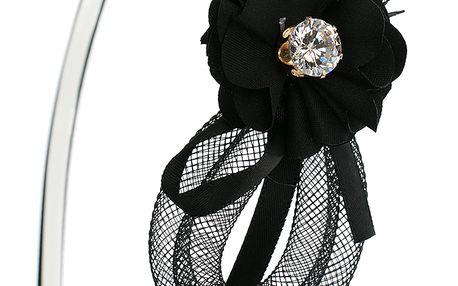 Fashion Icon Čelenka plastová s mašlí a krystalkem