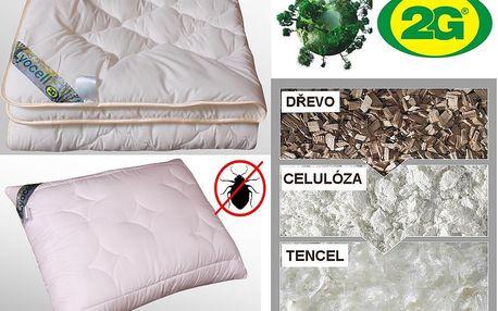 Celoroční ložní souprava LYOCELL-TENCEL velikost přikrývky: klasická-135x200cm, velikost polštáře: 50x70 cm