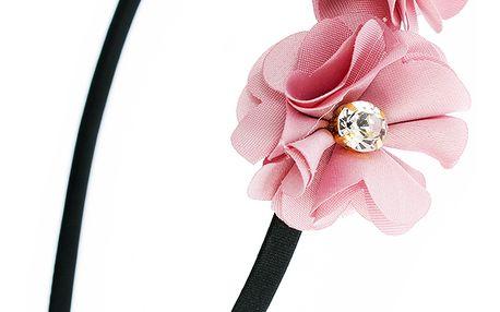 Fashion Icon Čelenka do vlasů kytky s krystalkem