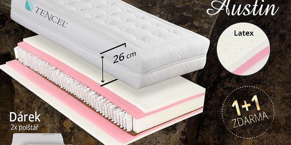 Pružinová matrace Tropico Austin 26 cm 1+1 zdarma +paměťový polštář ZDARMA Velikost: 90x220 cm - 1+1 zdarma (2ks)