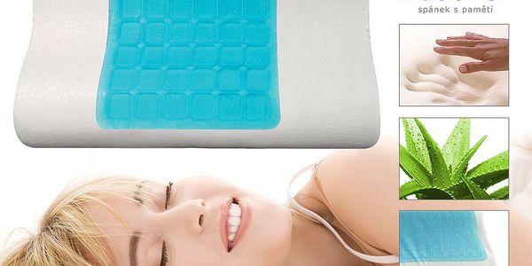 Anatomický polštář VISCOPUR® COOL GEL s gelovou vrstvou profilovaný 40x60cm Velikost: 40x60 cm