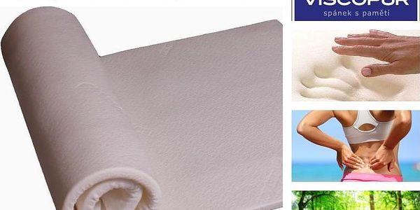 Vrchní matrace (přistýlky) VISCOPUR® Tencel® 4 nebo 7 cm Velikost: 85x195 cm, Výška: výška 7 cm