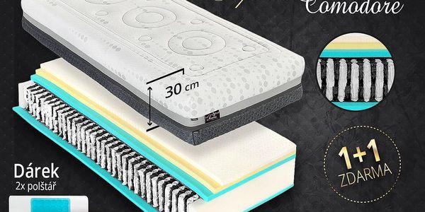 Pružinová matrace Tropico SPIRIT Superior COMODORE 30cm 1+1 zdarma+dárek 2 polštáře Velikost: 180x200 cm - 1ks (sleva 50%)