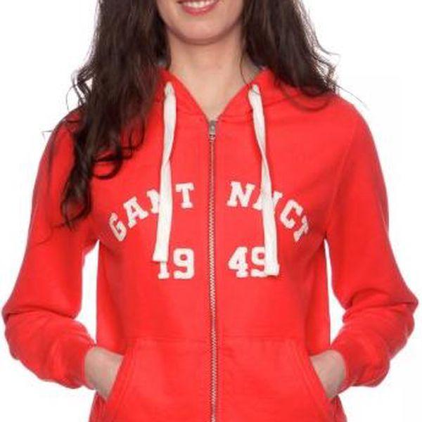 Gant dámská mikina s kapucí M červená