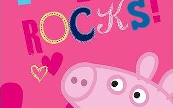 TipTrade Osuška Prasátko Peppa Rock, 70 x 140 cm