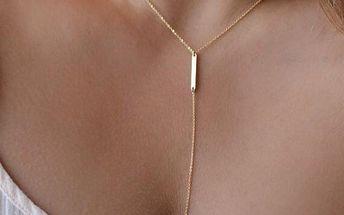 Dámský náhrdelník s trojúhelníkem - skladovka - poštovné zdarma