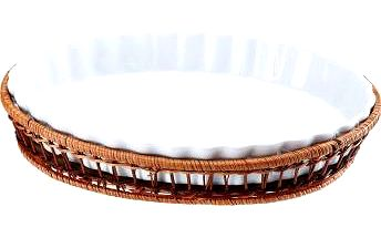 Porcelánová forma v košíku ovál 28 x 21 cm WELLBERG WB-10306