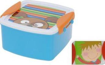 Svačinový box dětský s klip víčkem, 14 x 14 cm, chlapec ProGarden KO-983328boy