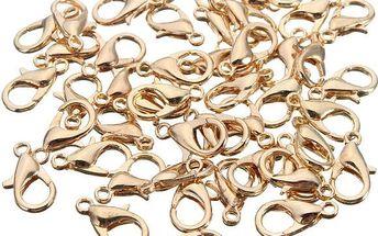 Sada drobných karabinek na výrobu šperků - 50 kusů