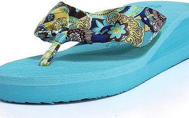 Letní plážová obuv pro ženy, žabky s podpatkem - 3 barvy