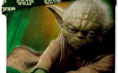 Jerry Fabrics bavlna povlečení Star Wars yoda 140x200 70x90