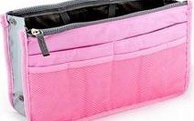 Kosmetický organizér do kabelky růžová