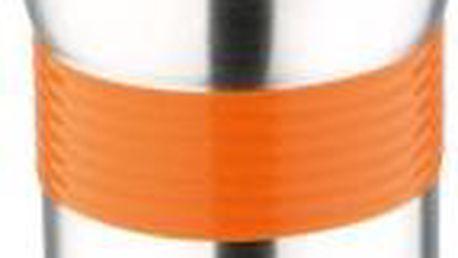 Termohrnek nerez / silikon 450 ml, oranžová RENBERG RB-3021oran