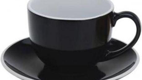 Hrnek na cappuccino 220 ml, černý EXCELLENT KO-Q75100430cern