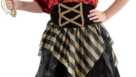 Kostým Pirátka 110-120 cm