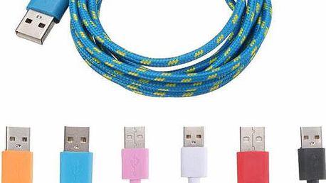 2m Micro USB textilní kabel - 6 barev - poštovné zdarma