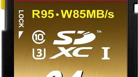 Paměťová karta Transcend SDXC Ultimate 64GB UHS-I U3 (95MB/s) (TS64GSDU3X)