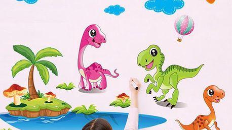 Samolepka na zeď - Malí dinosauři - dodání do 2 dnů