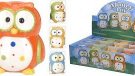 Pokladnička sova 4 barvy EXCELLENT KO-554888030, Oranžová