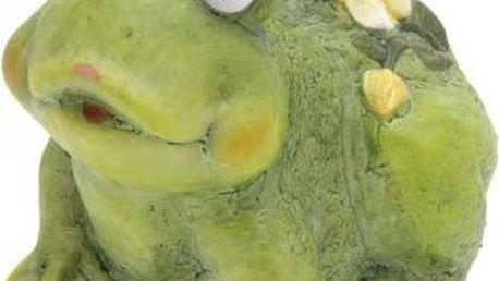 Zahradní dekorace žába s květinou, malá ProGarden KO-795003040zaba
