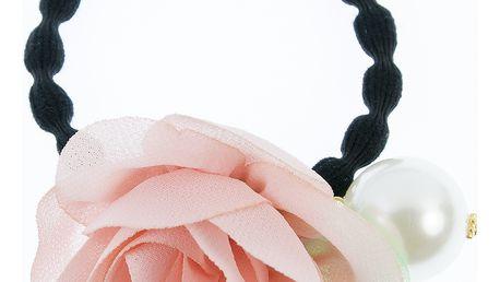 Fashion Icon Gumička do vlasů velká s květinou a perlou